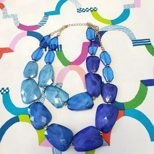 Beautiful chunky blues statement necklace